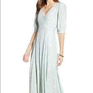 🆕 Something Navy Print Dress In Teal Chalk Dress